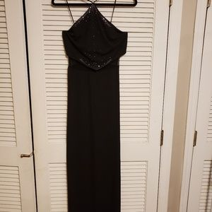 Dave and Johnny long black evening gown